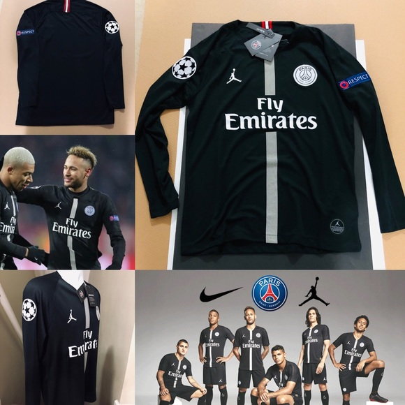 buy popular 64876 94244 2019 Jordan PSG Soccer Jersey Paris Saint-Germain NWT